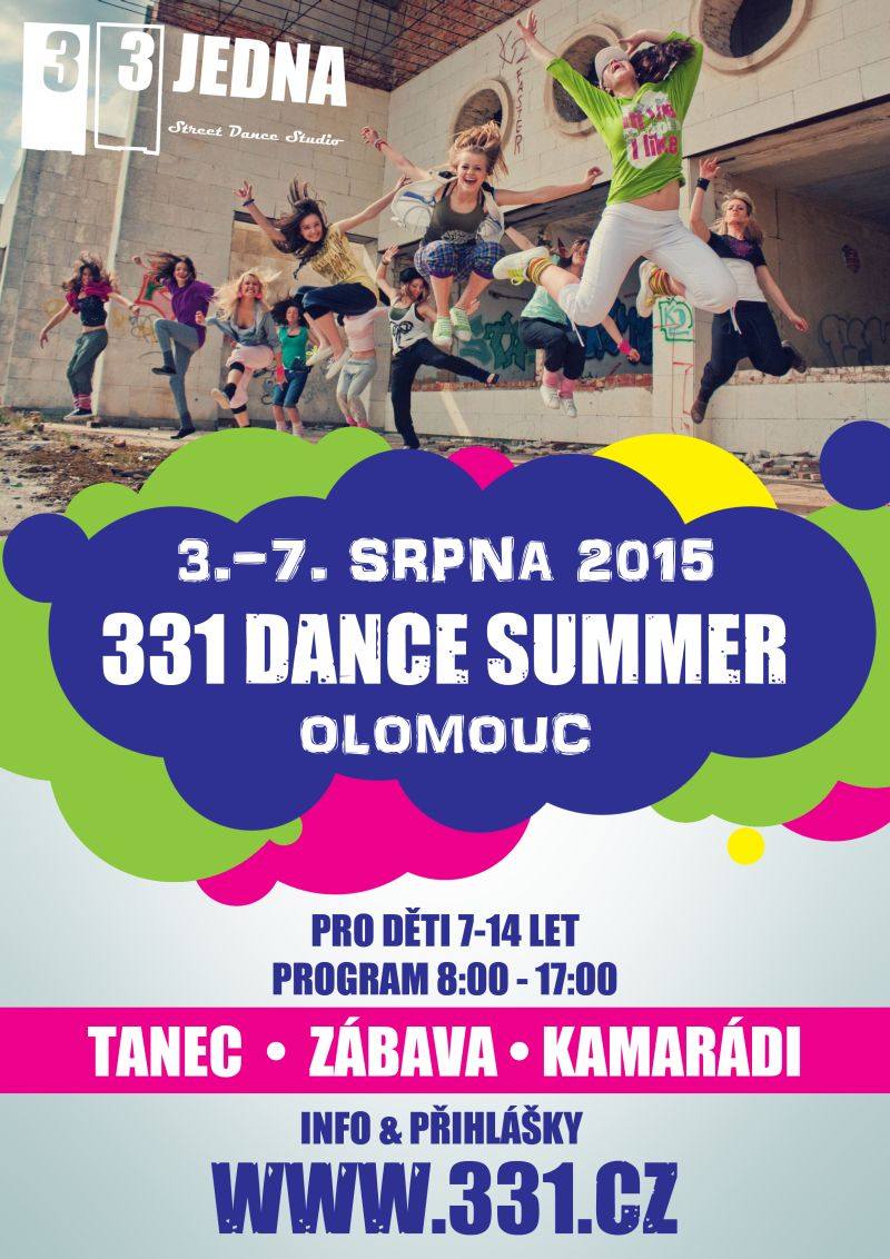 331 DANCE SUMMER | Letní intenzivní taneční kurz v Olomouci pro děti 7-14 let