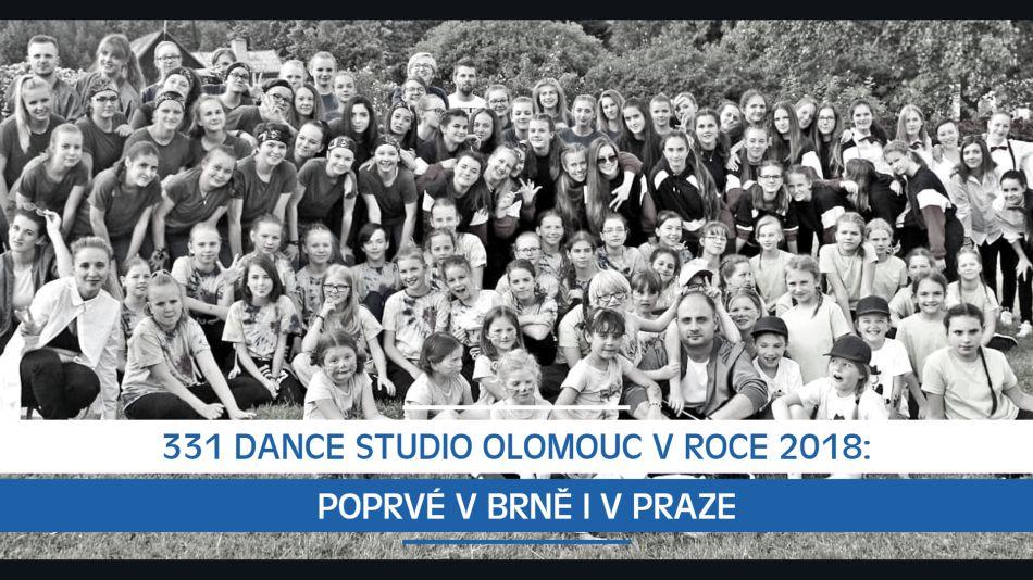 331 Dance Studio Olomouc v roce 2018: Poprvé v Brně i v Praze