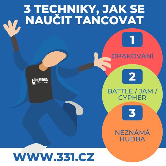 3 techniky, jak se naučit tancovat | 331 Dance Studio Olomouc