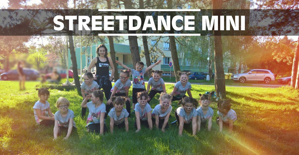 Streetdance Mini | Taneční kroužek Street Dance pro děti, kluky a holky ve věku 5, 6, 7 a 8 let v Olomouci. Lekce tanečních stylů Hip Hop, House Dance, MTV Dance, atd.