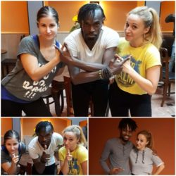 Tessa a Leňa na workshopech s Boysiem (Black Roses Crew) a Mikhalem (Xqlusiv)