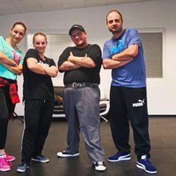 Ester, Domča & Dejv na workshopu s belgickým tanečníkem Valentinem