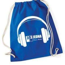 331 stahovací batoh modrý